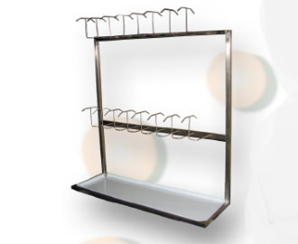 Bed pan rack
